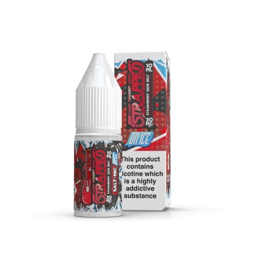 Strawberry Sour Belts On ICE Nic Salt By Strapped