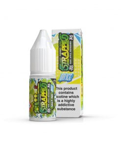 Sour Apple Refresher On ICE Nic Salt By Strapped