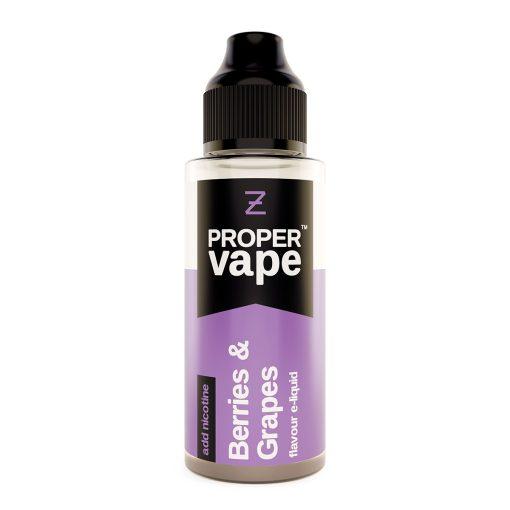 Proper Vape, Berries & Grapes by Zeus Juice 100ml + FREE NIC SHOTS