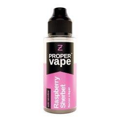 Proper Vape, Raspberry Sherbet by Zeus Juice 100ml + FREE NIC SHOTS