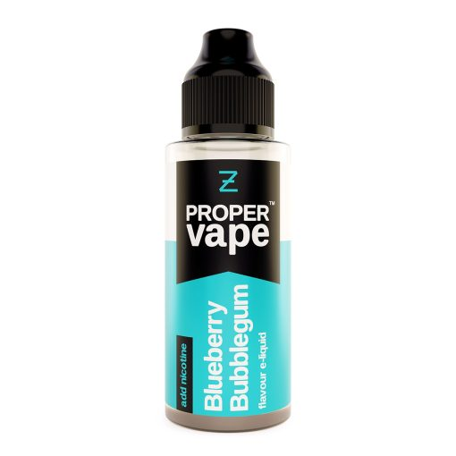Proper Vape, Blueberry Bubblegum by Zeus Juice 100ml + FREE NIC SHOTS