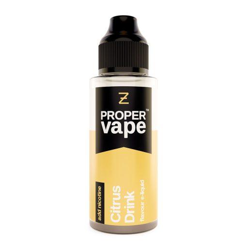Proper Vape, Citrus Drink by Zeus Juice 100ml + FREE NIC SHOTS