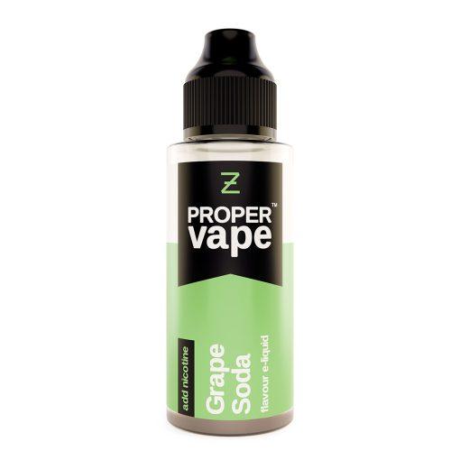 Proper Vape, Grape Soda by Zeus Juice 100ml + FREE NIC SHOTS